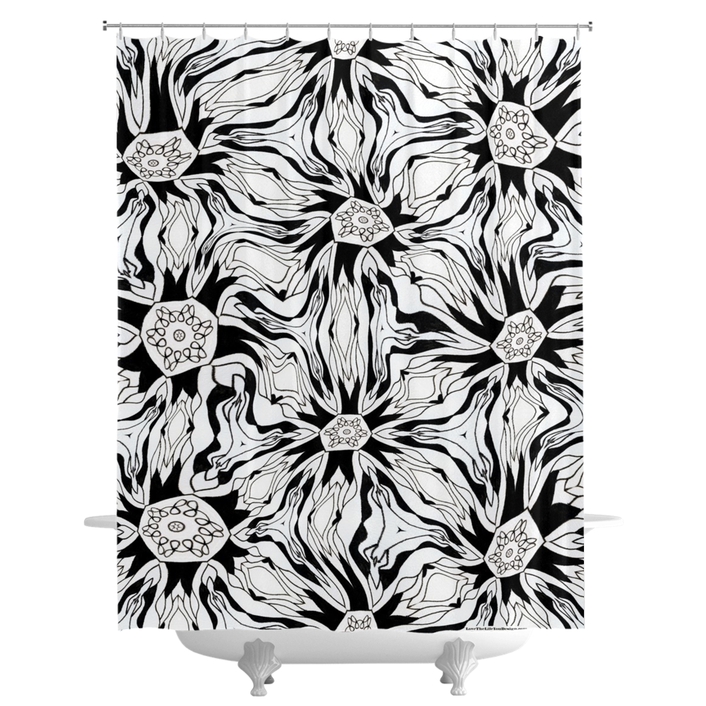 'Tripping Daisy' Shower Curtains by Leah Quinn Design