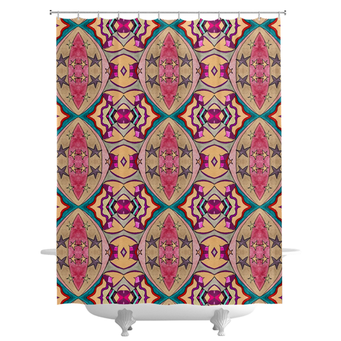 'Penelope' Shower Curtains by Leah Quinn Design