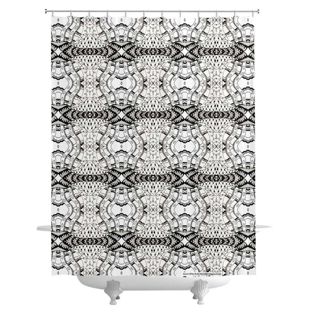 'Number 42' Color Your Own Shower Curtains  By Leah Quinn Design