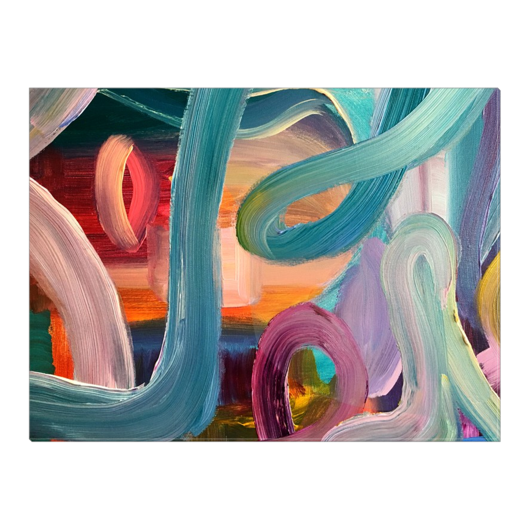 'Painted Ribbons'  - Art by Leah Quinn Printed on Wrapped Canvas