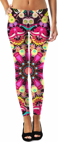 Mandala Love No. 19 Leggings by Leah Quinn Designs