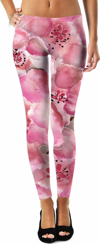 'Flowers in the Mist' Leggings