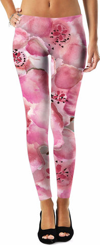 Flowers in the Mist Yoga Pants by Leah Quinn Design XS-5X Sizes Availalble