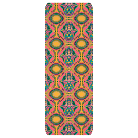 Yoga Mats Hamsa  - Hand of Fatima Design by Leah Quinn