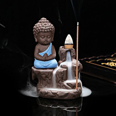 Creative Home Decor The Little Monk Censer Backflow Incense Burner Use In The...