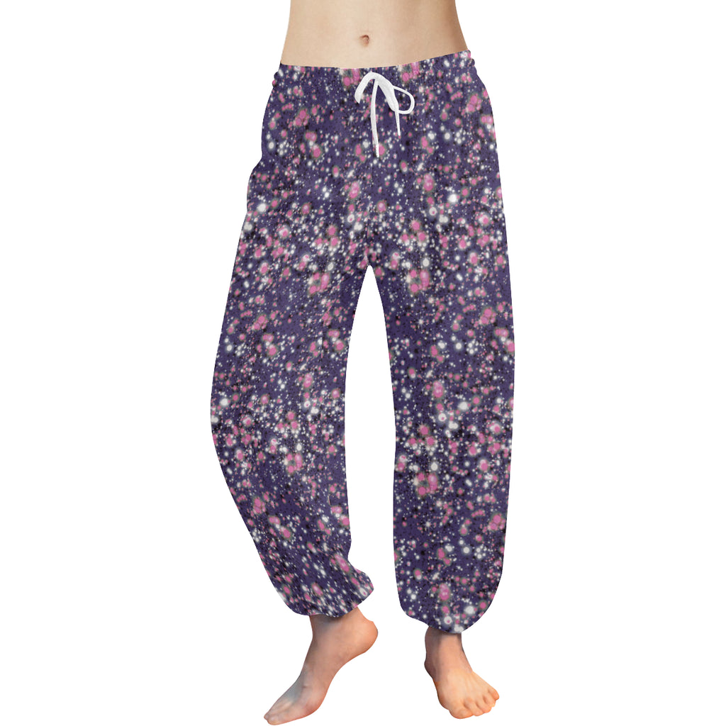 "Harem Pants in ""Starry Nights "" Design by Leah Quinn"