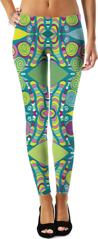'Peacock' Yoga Leggings