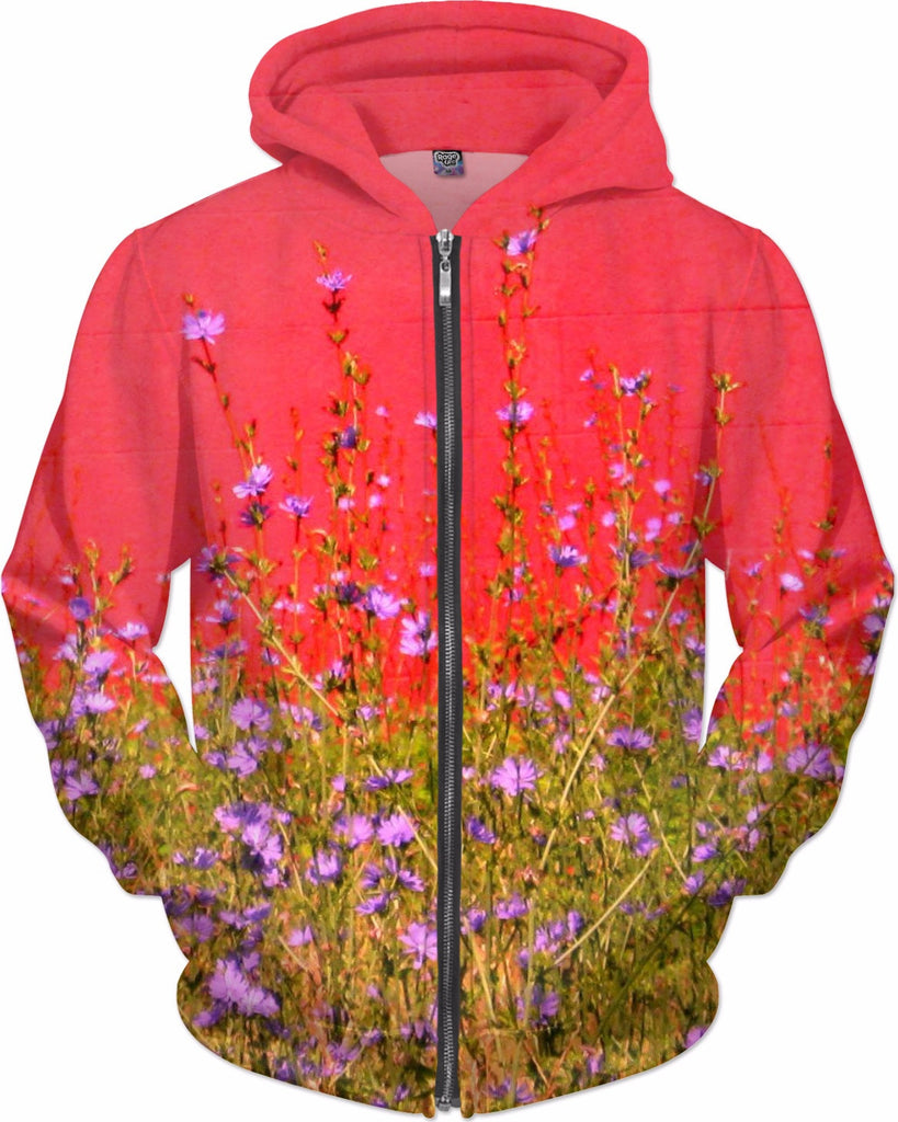 Red Wall and Weed Hoodie