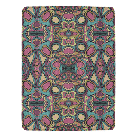 "Groovy Gravy Design Fleece Blanket 60""x80"""