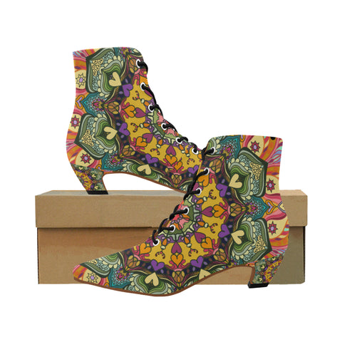 'Mandala Number 23' Boots by Leah Quinn Design