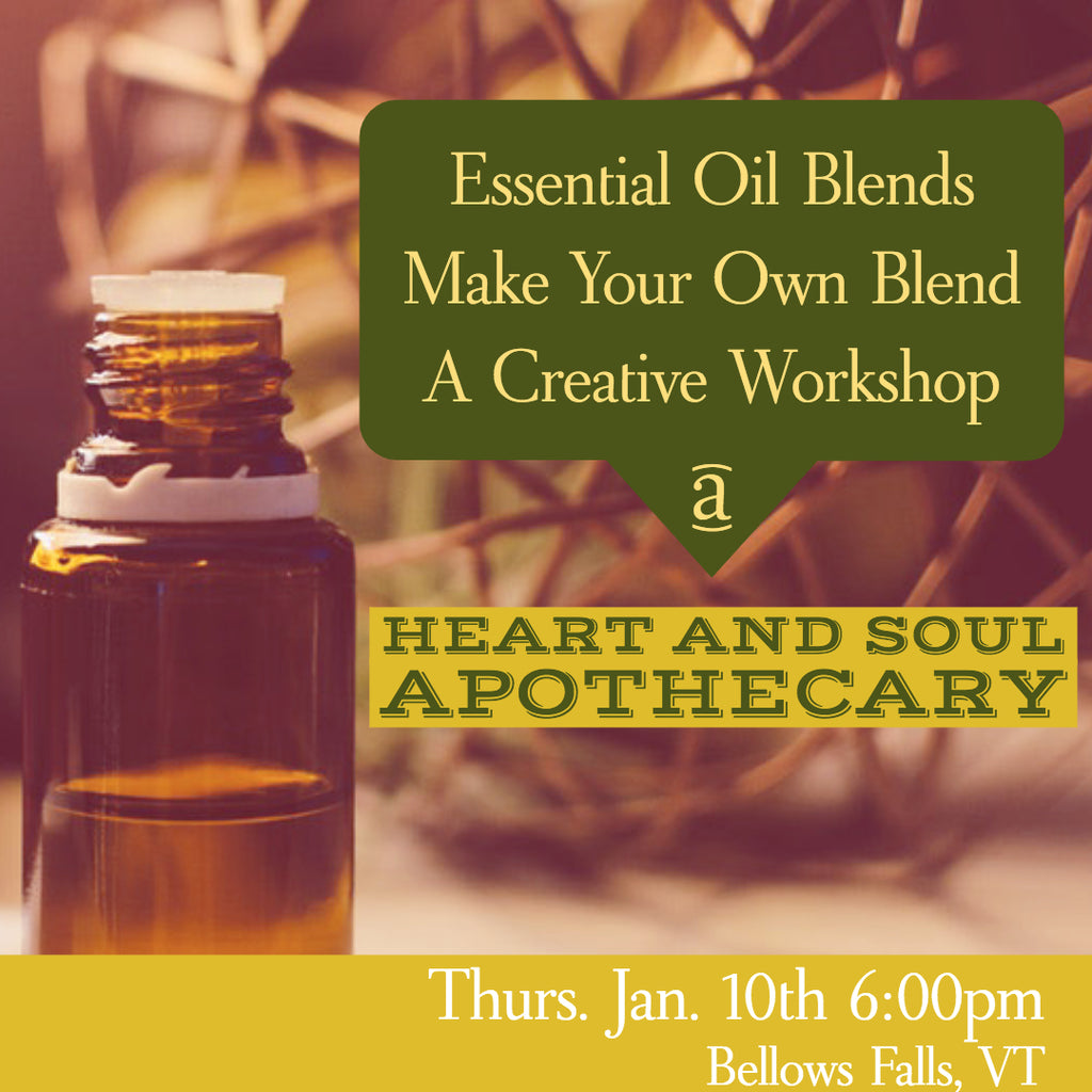 Make Your Own Essential Oils Blends Workshop