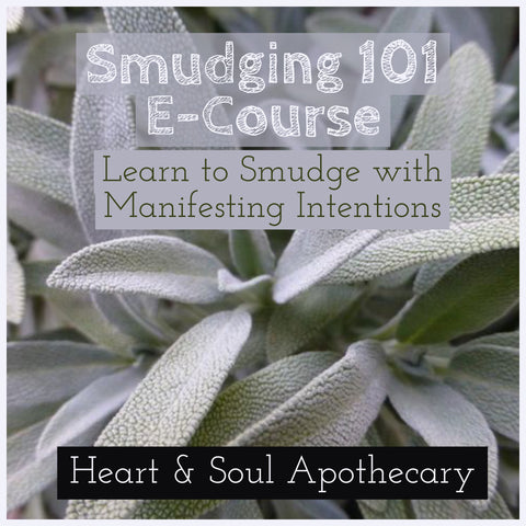 Smudging 101 Live E-Course by Leah Quinn of Heart and Soul Apothecary
