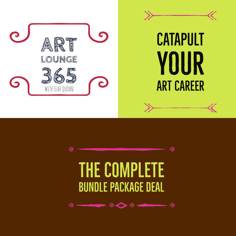Art Lounge 365 Complete Bundle Package of Art Career Goodies