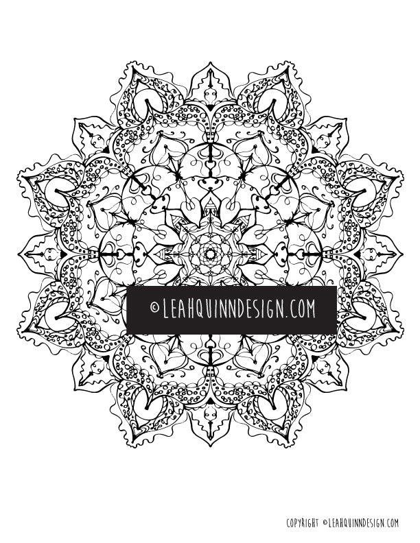 Mandala 31 Coloring Page – Heart and Soul Apothecary - Love the life ...
