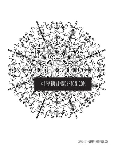 Mandala 32 Coloring Page - Instant Download - by Leah Quinn Art and Design