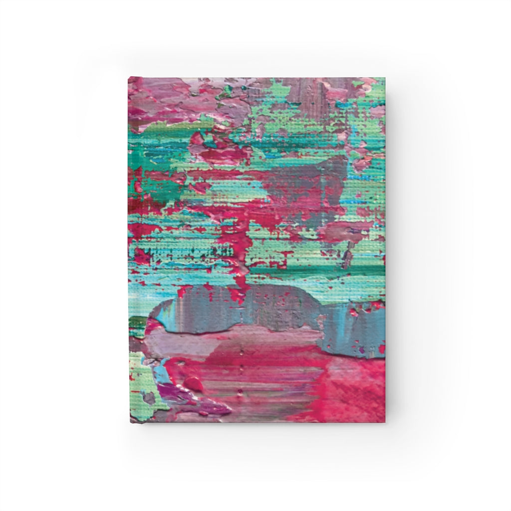 Wet Paint Design in Turquoise and Magenta Hardcover Journal - with 128 Blank Pages 5x7.25 inch