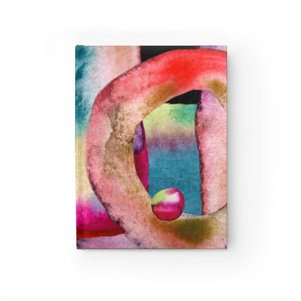 Watercolor Cover Hardcover Journal - with 128 Blank Pages 5x7.25 inch