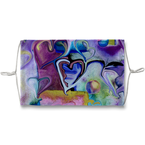 Hearts Lots of Hearts Sublimation Face Mask