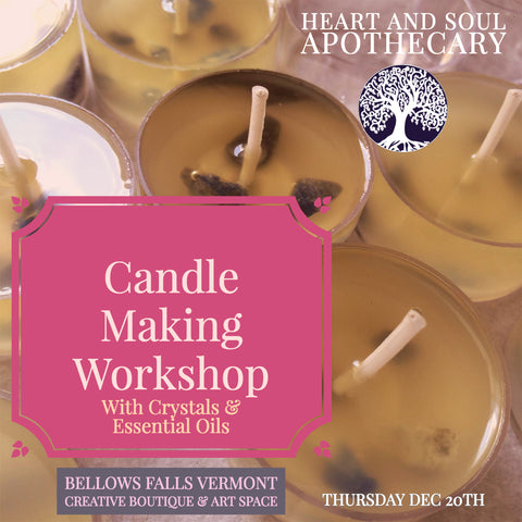 Candle Making with Crystals & Essential Oils Workshop