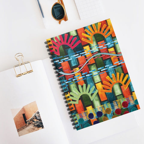 City Abstract Spiral Notebook - Ruled Line 6x8 Inch