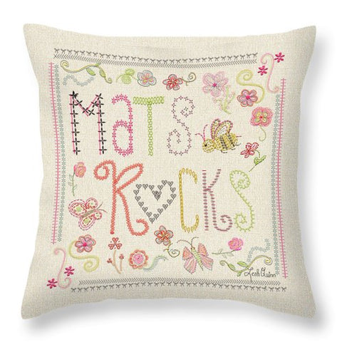 Mats Rocks - Throw Pillow by Leah Quinn