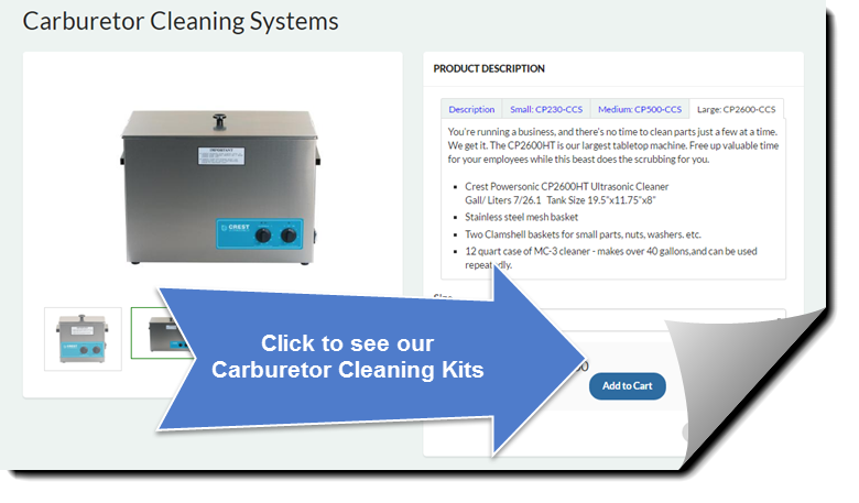Click to see all our Carburetor Cleaning Kits