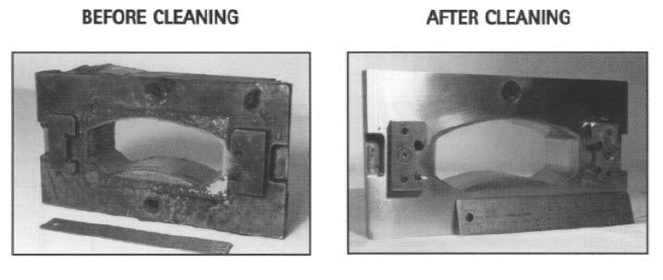 Ultrasonic Cleaning of Injection Molds