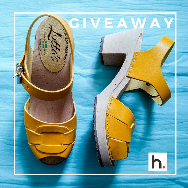 Giveaway Alert - Win a Pair of Handmade, Swedish Clogs