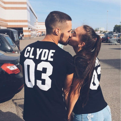 2019 BONNIE and CLYDE Couples T-Shirts