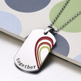 2Pcs Lgbt Couples - Stainless Steel Necklace