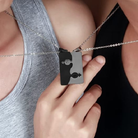 2Pcs Stainless Steel Necklace - Male Symbol