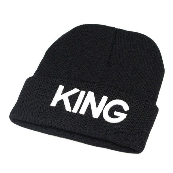 King And Queen Beanie 2018 Winter Cap Hats Black White K