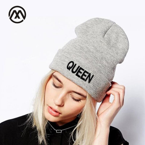 King And Queen Beanie 2018 Winter Cap Hats