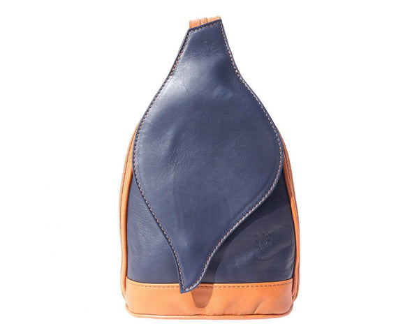 Backpack purse with leaf-shaped flap-2015