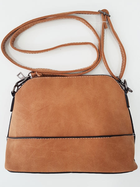 Crab shell-shaped artificial leather shoulder and cross-body bag