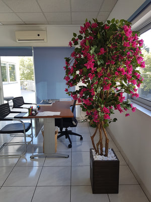 Artificial Bougainvillea Tree (180cm) Fuchsia colour - 25011-180
