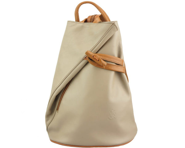 Backpack purse and shoulder bag Fiorella with many pockets in genuine leather-2062