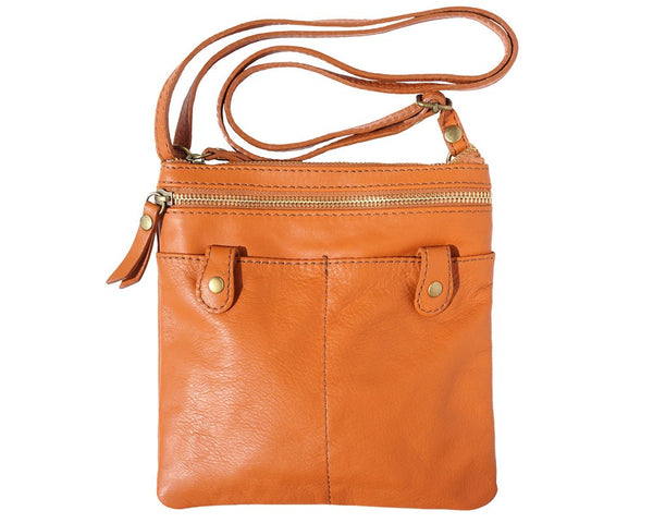 Small soft leather cross body bag - 415