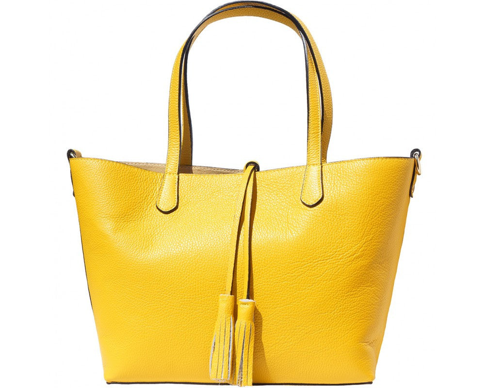 "Shopping bag ""Belinda"" in grainy leather - 8063"