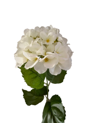 Artificial white hydrangea single flower (76cm) | FLR0001