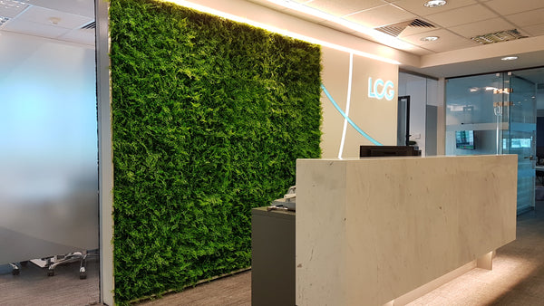 Artificial Green Wall / Vertical garden panels, leaves and greenery