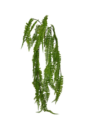 Artificial hanging boston fern (Length: 80cm) - With UV protection | BG062