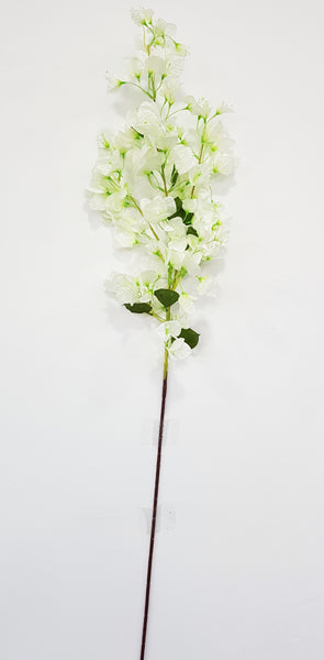 Artificial Bougainvilliea branch (White) (Length: 120cm)