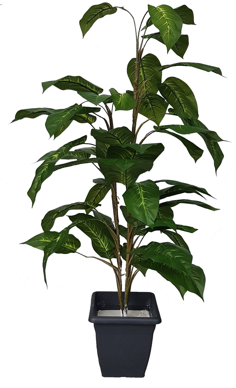 Artificial dieffenbachia plant (Height: 1.10m) - 25034 - Without pot