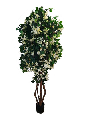 Artificial Bougainvillea Tree (180cm) White colour - 25011-180