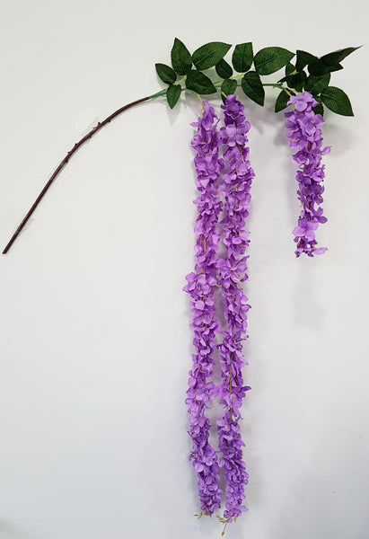 Artificial Wisteria branch (Purple) (Length: 150cm)