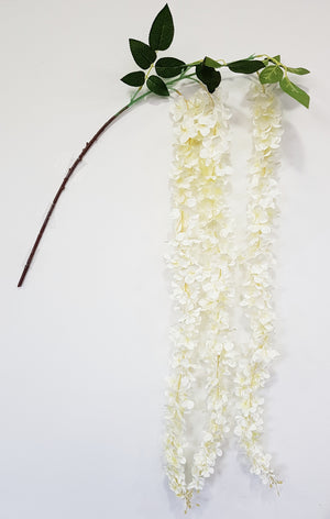 Artificial Wisteria branch (White) (Length: 150cm)