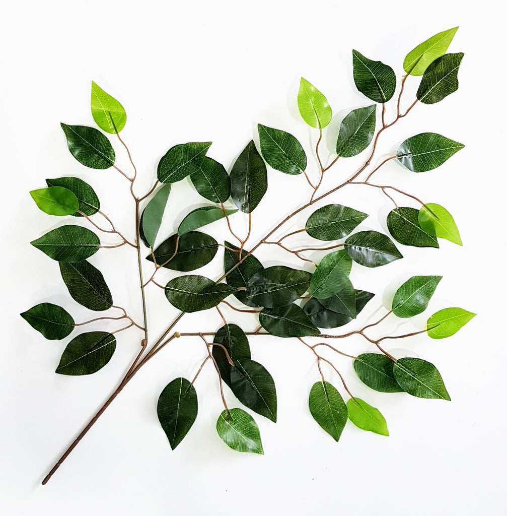 Artificial Ficus Branch (Length: 63cm)