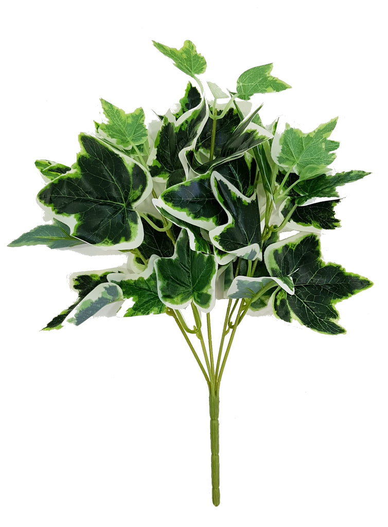 Artificial Ivy green & white foliage (Length: 35cm)