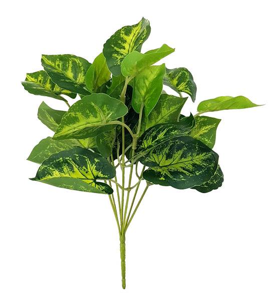 Artificial Caladium (green) - LSG-019 (Length: 25cm)